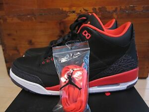 release date 1644b a679a Image is loading 2012-Nike-Air-Jordan-3-III-Retro-Crimson-