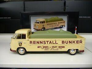 1:18 Schuco VW T1 Renntransporter Rennstall Bunker  NEW