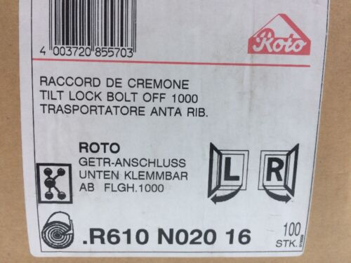 ROTO Getriebeanschluß unten R610N02016 klemmbar