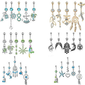 5Pcs-Dangle-Belly-Button-Rings-Navel-Rings-Belly-Piercing-Body-Piercing-Jewelry