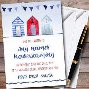 Nautical beach hut personalised housewarming party invitations ebay image is loading nautical beach hut personalised housewarming party invitations solutioingenieria Choice Image