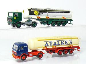 Herpa-Volvo-MB-Mercedes-Silo-Tank-Sattelzug-Talke-NWM-Holland