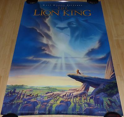 The Lion King 1994 Original Rolled Ds 1 Sheet Movie Poster Walt Disney Ebay