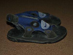 3aafaca62 Vintage Mens Womens NIKE Flip Flop SANDALS Size 6 Blue Black Slip-In ...