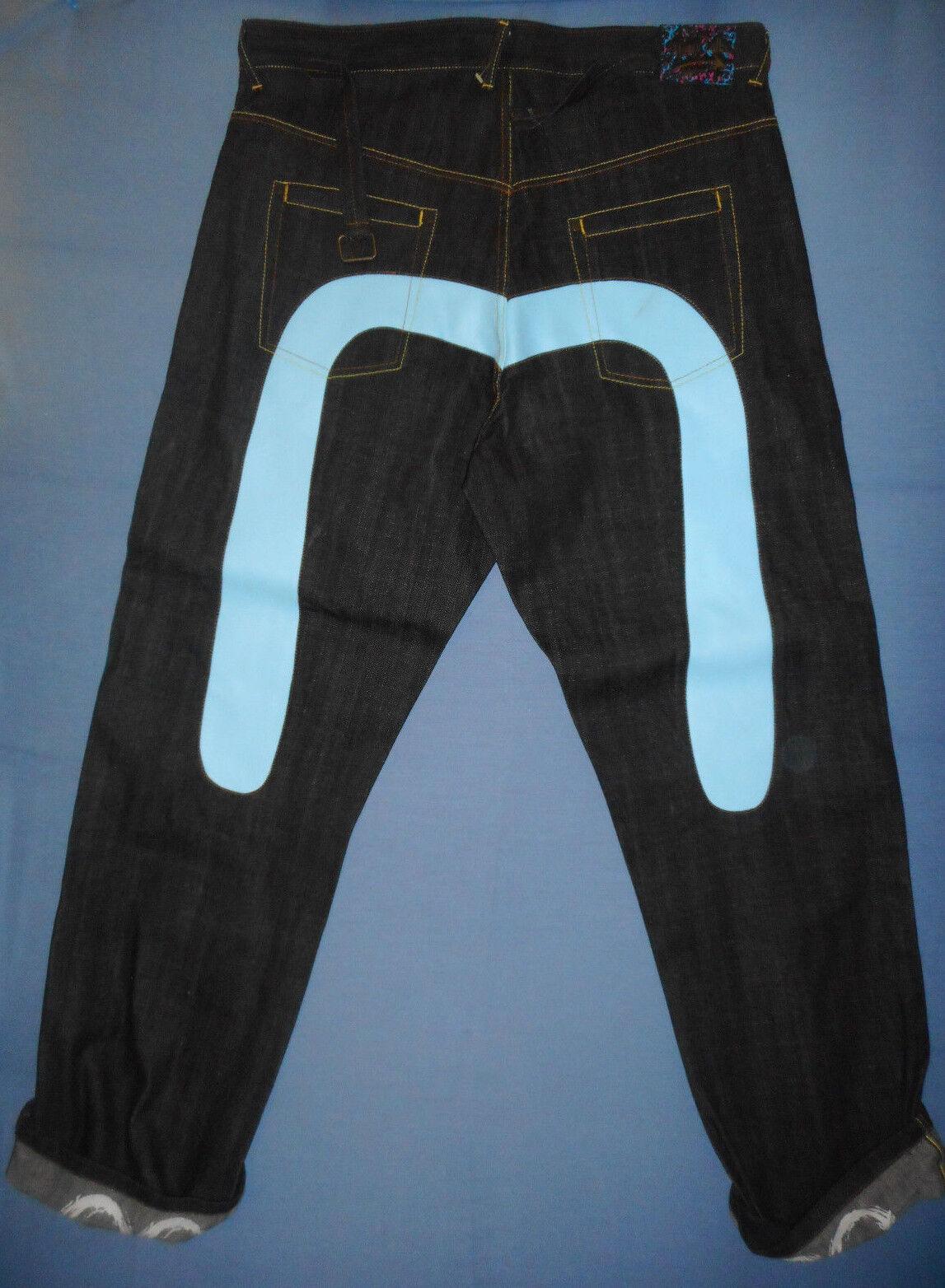 NEW Genuine MONEY TALKS - W40 Mens Dark Blau Hip Hop Jeans - Cinch Zip Fly -G932