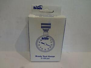 Brady  3//4 in 0 psi 100 psi Pressure Gauge