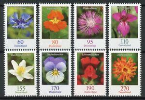 Germany 2019 MNH Wild Flowers Definitives 8v Set Flora Nature Stamps