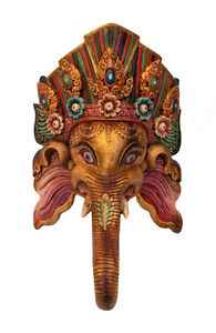 Maschera Etnico De L'' Himalaya-62cm Ganesha Ganesh Elefante-Tibet Nepal -5318