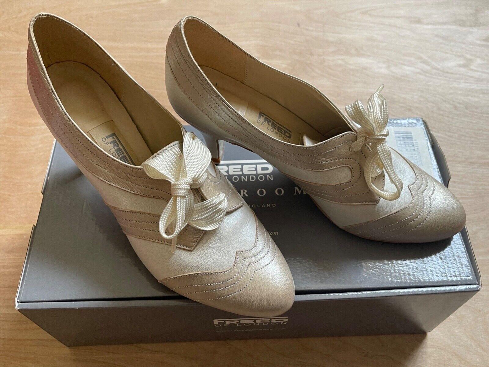 Freed of London Ballroom Ladies UK 6 Lace Up Ivory/Cream