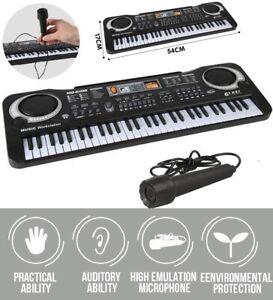 Clavier-Piano-Numerique-Electrique-Synthetiseur-61-Touches-avec-microphone