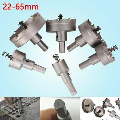 6 tlg Set Hartmetall Lochsäge Bohrkrone Kreisschneider 22-65mm für Edelstahl HOT