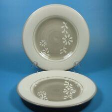 Martha Stewart Everyday DAISY GARLAND Gray Salad Plates Plate Set of 2 MSE