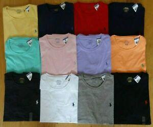 Polo-Ralph-Lauren-T-shirt-ORIGINALE-Uomo-Standard-Fit-Girocollo-Cotone-Maglietta