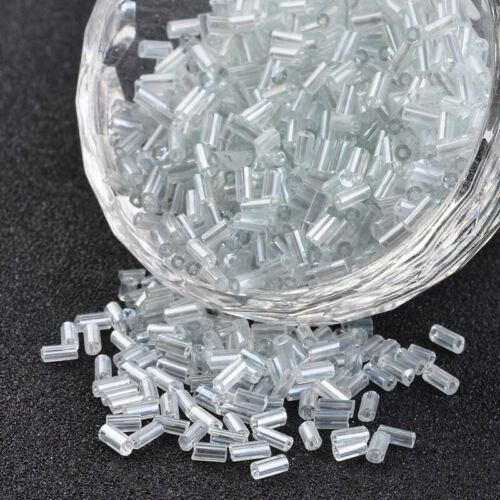 1200pcs//50g Czech Glass Seed Beads Tube Smooth Two Cut Bugle Tiny Spacer 5x1.8mm