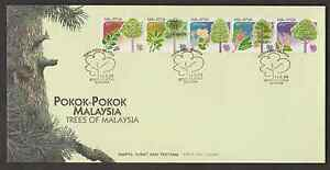 F237Be-MALAYSIA-1999-TREES-BOOKLET-SET-OF-5V-FDC