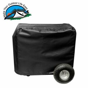 All-Weather-Protected-Outdoor-Black-Vinyl-Generator-Cover-Medium