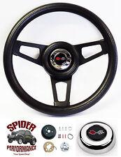 """1968-1972 Corvette steering wheel CROSSED FLAGS BLACK 13 3/4"""" Grant"""