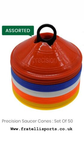 Precision Pro Football Training Saucer Cones Set of 50 ✅ FREE UK SHIPPING
