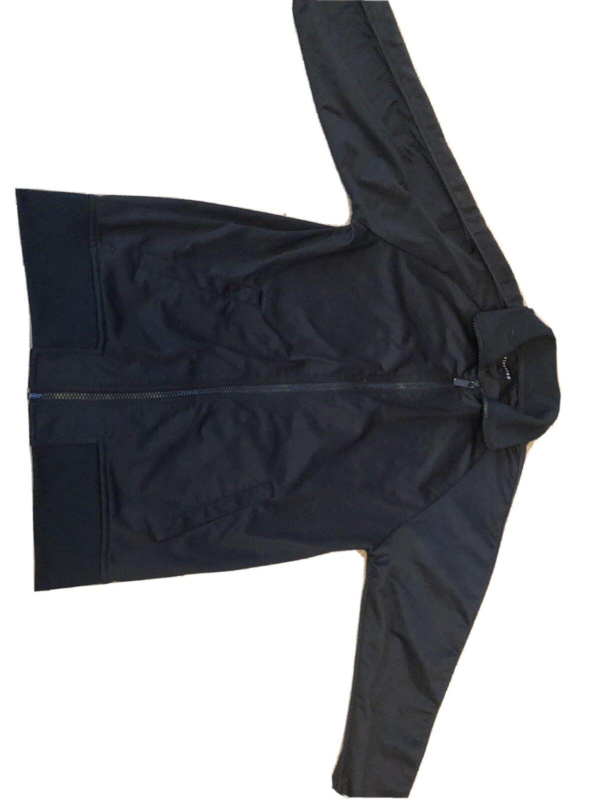 Firetrap Mens Boys Black Sweatshirt Jacket Zip Top Size Small, Hardly Worn