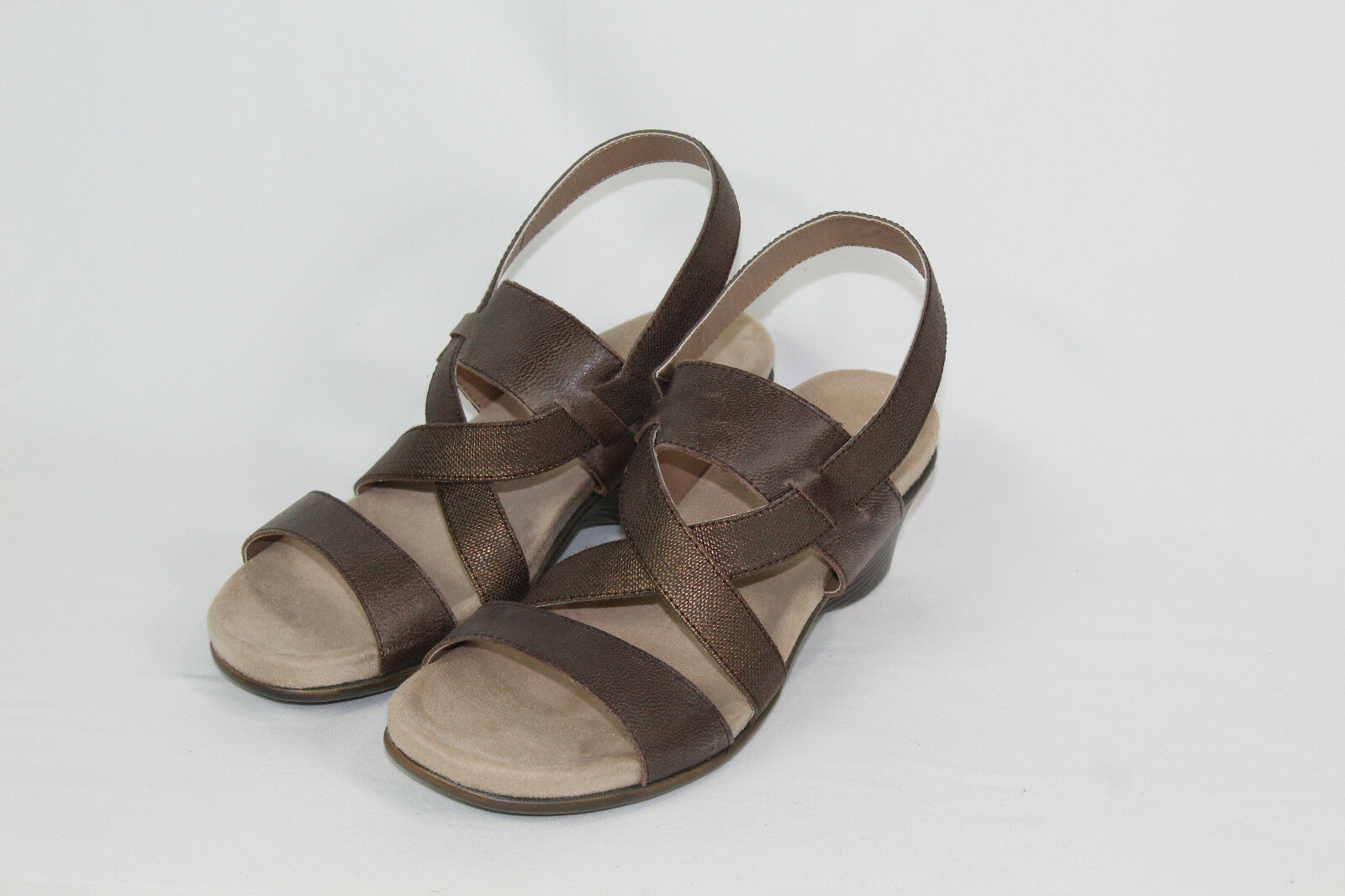 PURESOLE 8.5 medium bronze arcadia sandals new