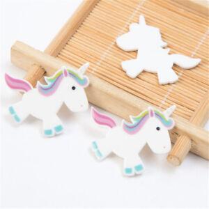 5pcs-Rainbow-Unicorn-Flat-Back-Resin-Cabochon-DIY-Craft-Embellishment-Decor-LJ