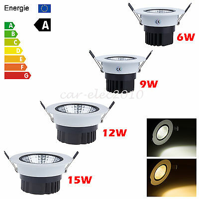6W 9W 12W 15W Dimmable COB LED Recessed Ceiling Spot Down Light Bulb +Driver kit