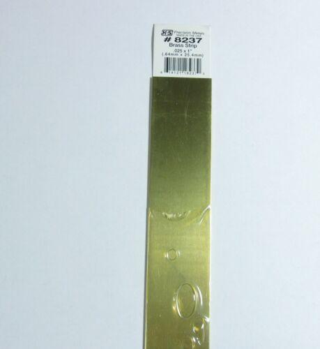 """1 Piece K/&S Engineering 8237 Brass Strip .025 X 1/"""" X 12/"""""""
