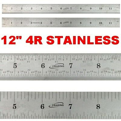 "8th 16th 32th 64th Stainless 5 Each Set Taytools  6/"" Machinist Ruler Rule 4R"