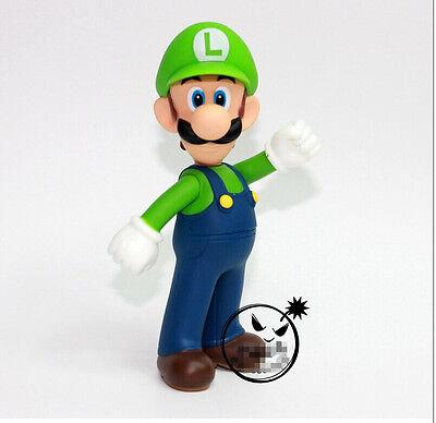 "Super Mario Bros 5/"" LUIGI Action figures Dolls Free Shipping"