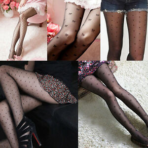 Fashion-Woman-Lady-Girls-Black-Sexy-Pattern-Jacquard-Pantyhose-Tights-Stockings