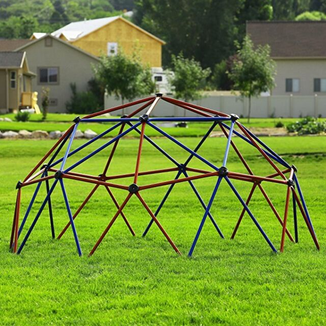 Kids outdoor geometric dome gym jungle fun yard playset safe