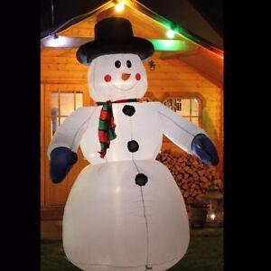 Details zu Schneemann 240 cm Weihnachtsfigur aufblasbar beleuchtet  weihnachtsdeko außen
