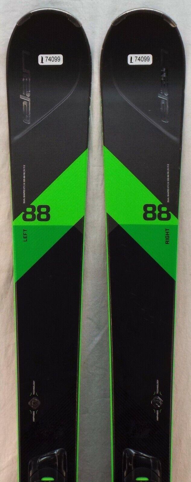17-18 Elan Amphibio 88 XTi Used Men's Demo Skis  w Bindings Size 176cm  up to 42% off