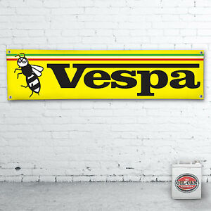 VESPA-WASP-Banner-heavy-duty-for-workshop-garage-mancave-scooter