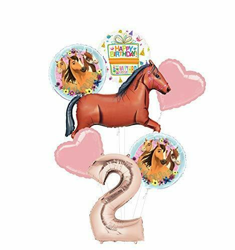 Mayflower Products Spirit Riding Free Party Supplies 2nd Birthday Brown Horse