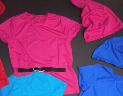 NWT Shortsleeve pullover Dance Costume top w// Hat Dwarf elastic faux bucklebelt