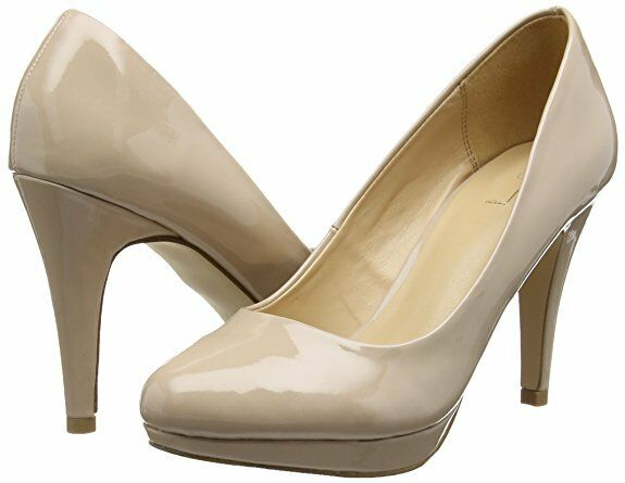 ALDO VULTURE SIZE 6 39 NUDE PATENT HIGH HEEL FORMAL COURT SHOES  BNWB