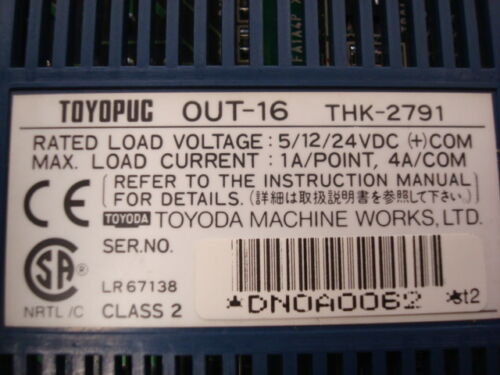 USED Toyoda Toyopuc OUT-16 THK-2791 Output Module