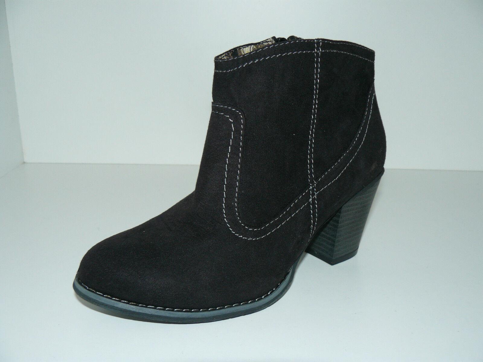 ODGI TRENDS schwarze Stiefeletten Damen Schuhe 38 UK 5 elegant Chelsea Boots NEU
