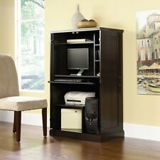Hooker Computer Cabinet Armoire Solid Wood Furniture Office Desk ...