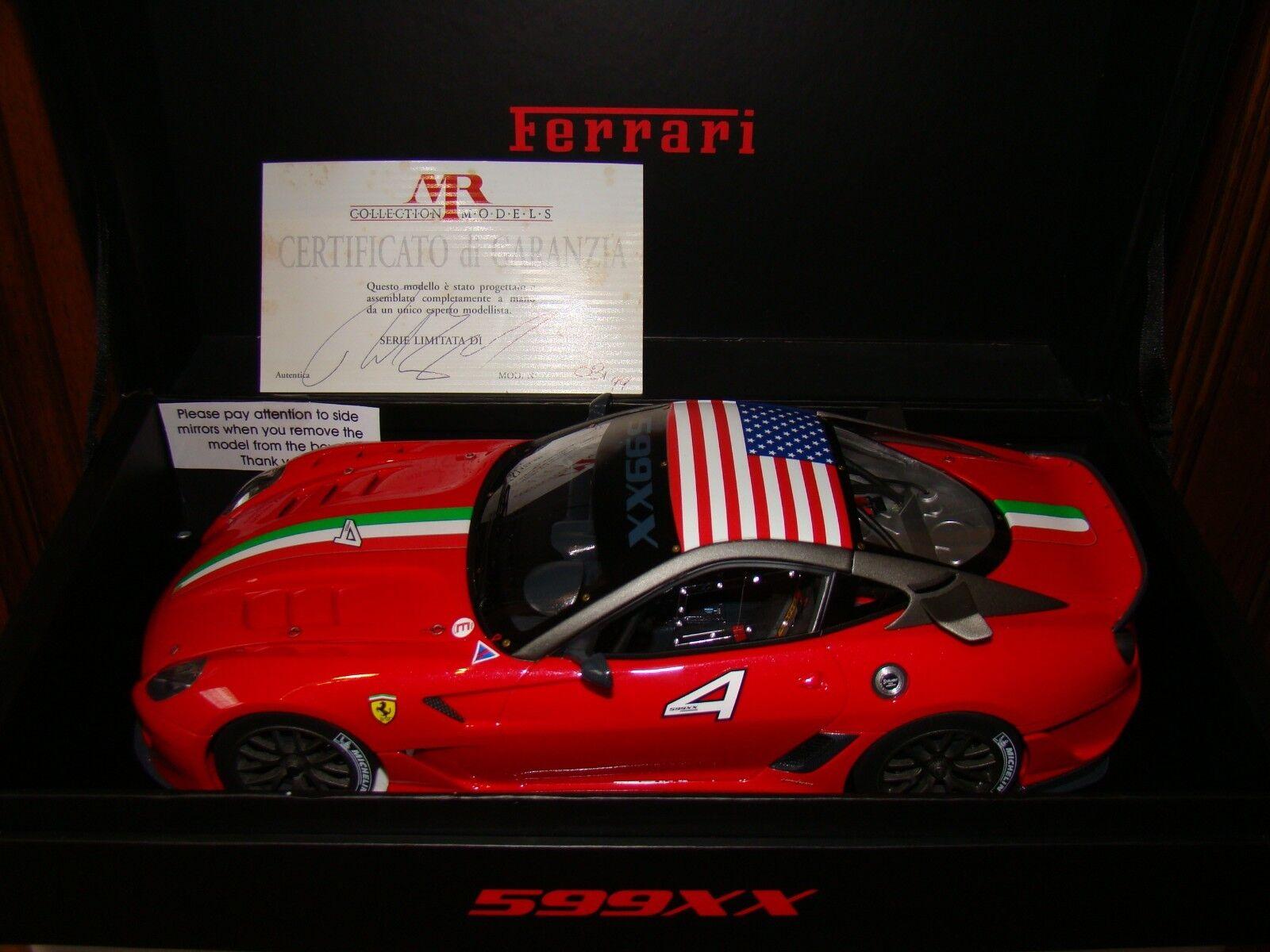 Ferrari 599xx Mr Collection 1 18 Eme Coche No 4 Rojo Limited 99Uds