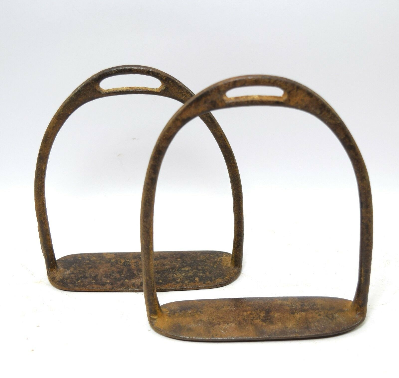 Pedal De Caballo De Buena Vintage Coleccionables estribo Par Granja nos Decoración. G42-165
