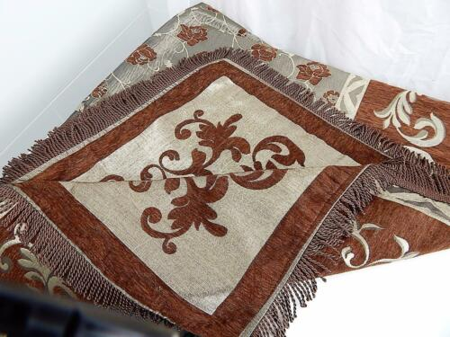 Throw Rug Blanket Decorative Bed Runner Couch Sofa Decor 2 Pillow Covers Velour