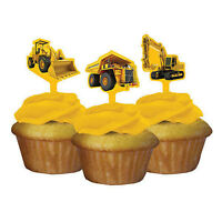 Construction Zone Cupcake Toppers- Pack 24