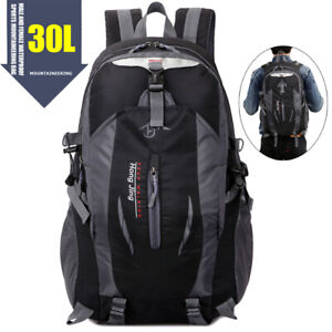 Large 30L Camping Backpack Outdoor Hiking Rucksack Daypacks Luggage Trekking Bag