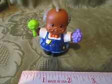 Fisher Price Little People AA Grocery Store Walmart SuperCenter Greeter Man Food