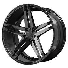 Staggered Verde Parallax Front:19x8.5,Rear:19x9.5 5x112 +45mm Black Wheels Rims