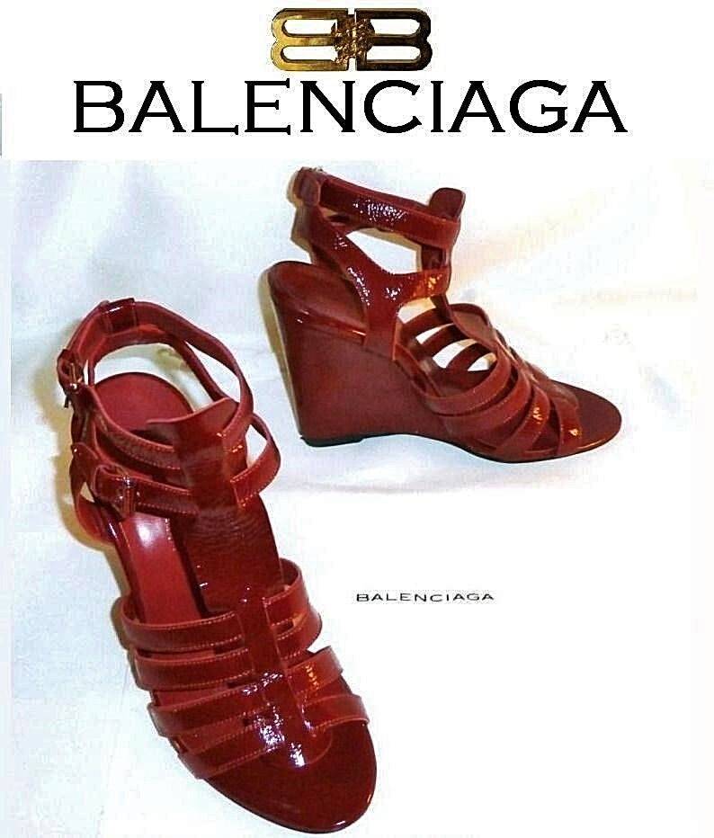 BALENCIAGA  NEW red Cladiator sandals  US  7 ; EUR  37  AUTHENTIC