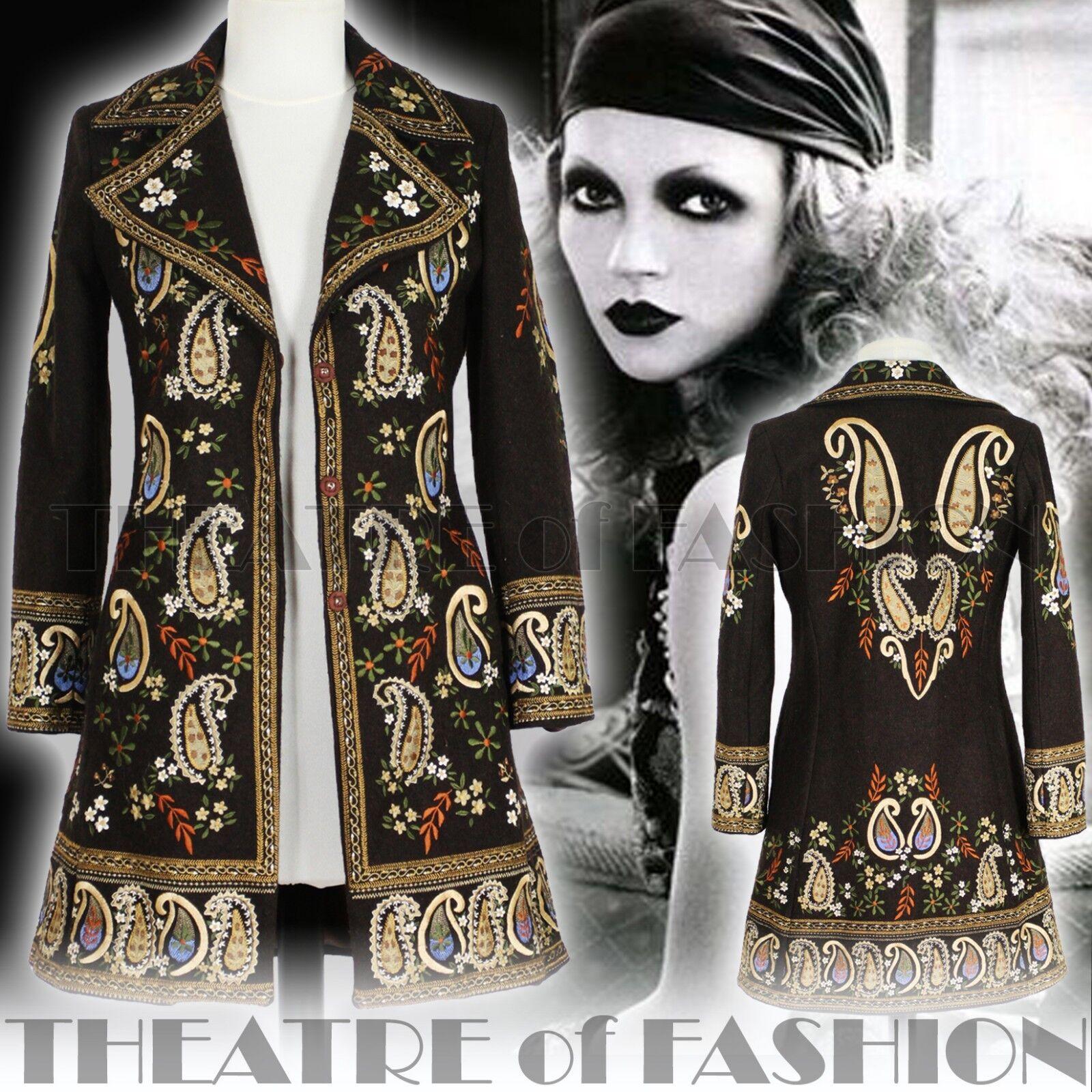 Abrigo  Chaqueta Vintage 70s 60s S M L Boho Hippy Arte Diosa Vestido indio Raro épica  Con precio barato para obtener la mejor marca.