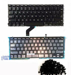 NEW-13-034-MacBook-Pro-Retina-A1425-US-Black-Keyboard-w-Backlit-amp-Rivet-Screws